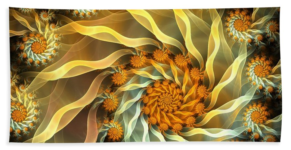 Fractal Hand Towel featuring the digital art Dancing With Daisies by Amorina Ashton