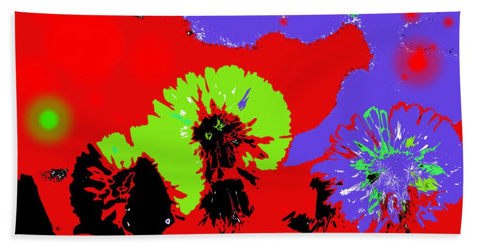 Abstract Bath Sheet featuring the photograph Dandelion Seeds by Jeff Swan
