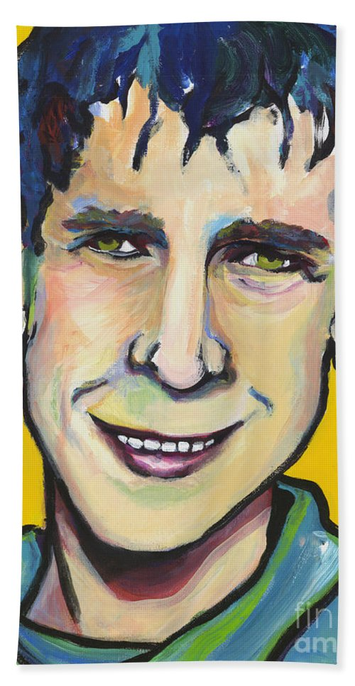 Portrait Hand Towel featuring the painting Daniel by Pat Saunders-White