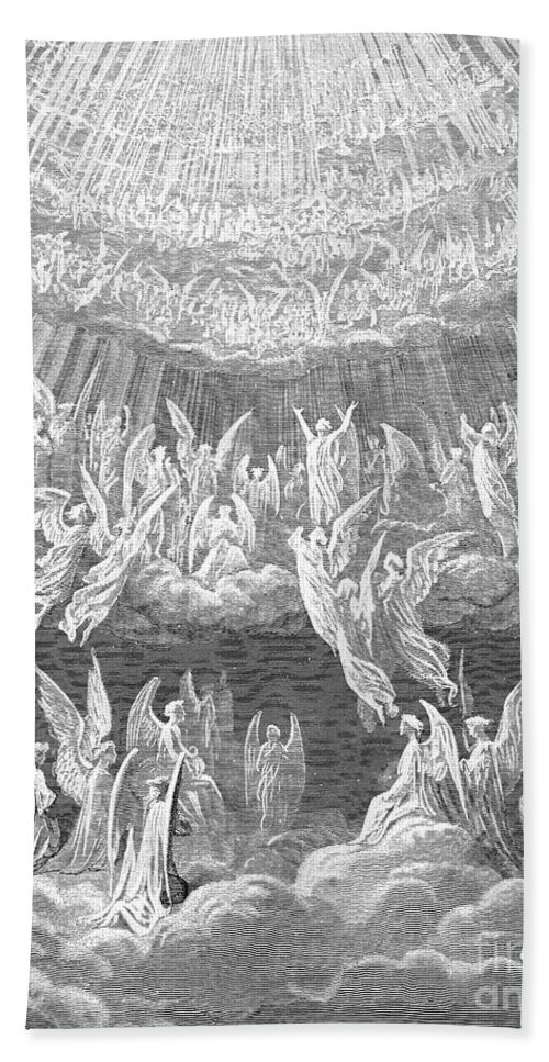 14th Century Bath Sheet featuring the photograph Dante: Paradise by Granger
