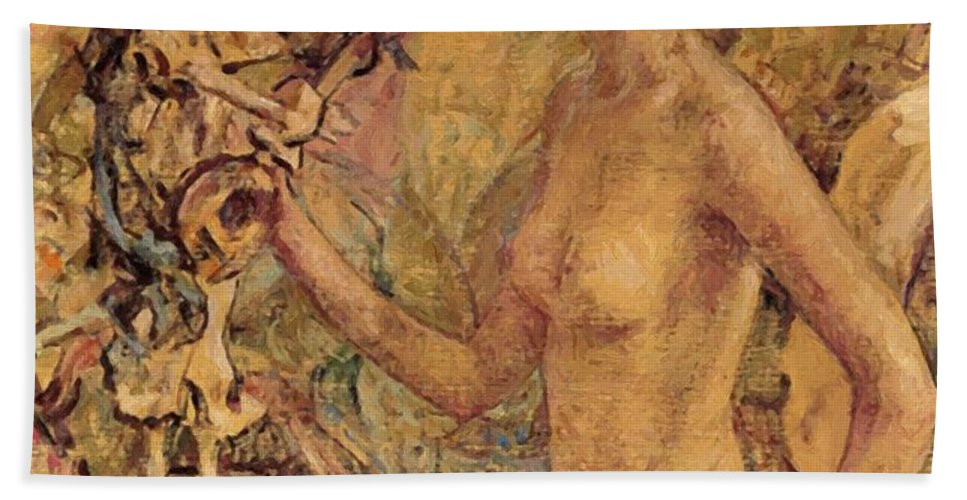 Daphne Hand Towel featuring the painting Daphne by Reid Robert Lewis