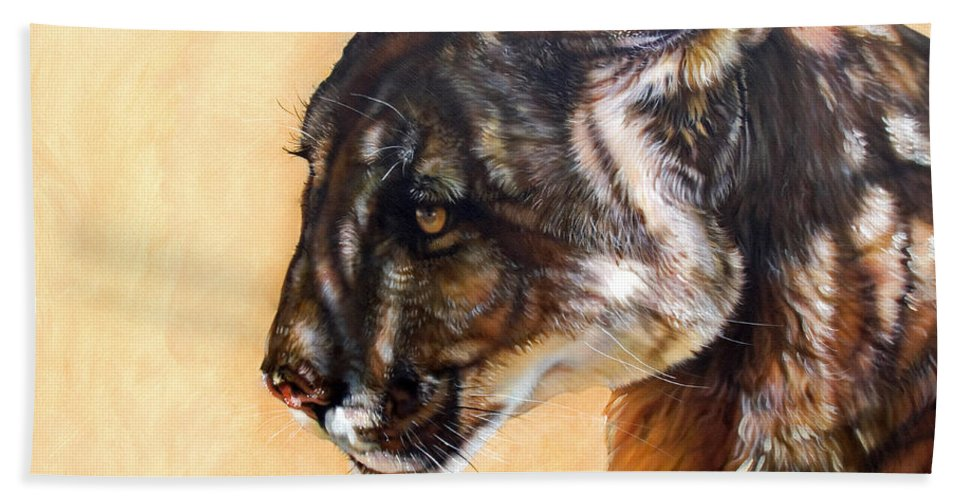 Catamount Hand Towel featuring the painting Dappled by J W Baker