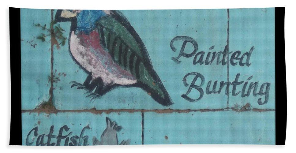 Mural Bath Sheet featuring the photograph Darien Mural 2 by Rebecca Stephens