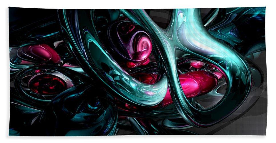 3d Bath Sheet featuring the digital art Dark Secrets Abstract by Alexander Butler
