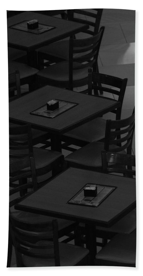 Tables Bath Sheet featuring the photograph Dark Tables by Rob Hans