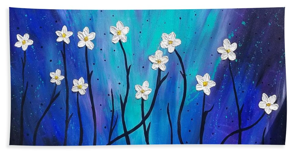 Modern Art Hand Towel featuring the painting Dark Willow by Jennah Lenae