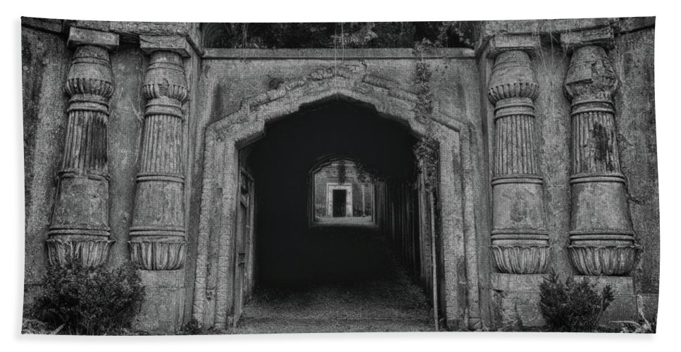 Anglican Bath Towel featuring the photograph Darkness by Monika Tymanowska