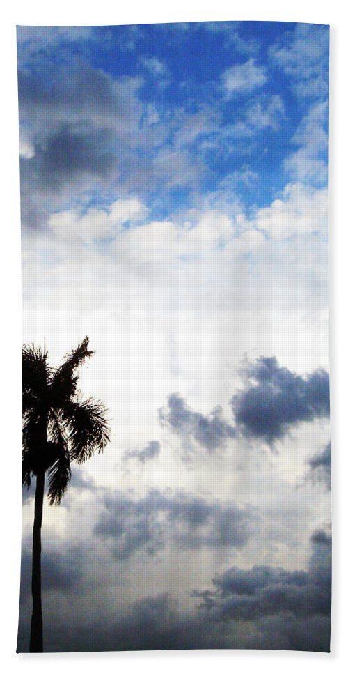 Florida Bath Sheet featuring the photograph Darkness Moving In by Chris Andruskiewicz