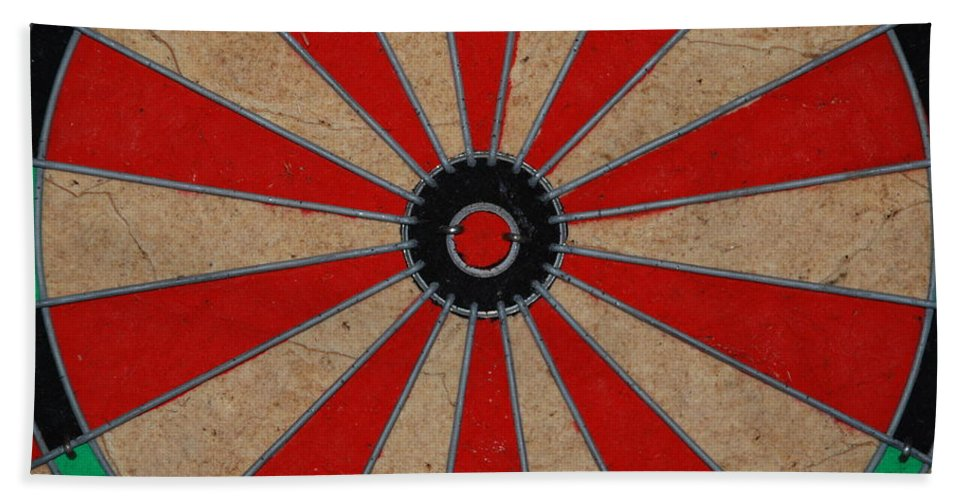 Art Bath Towel featuring the photograph Dart Board by Rob Hans