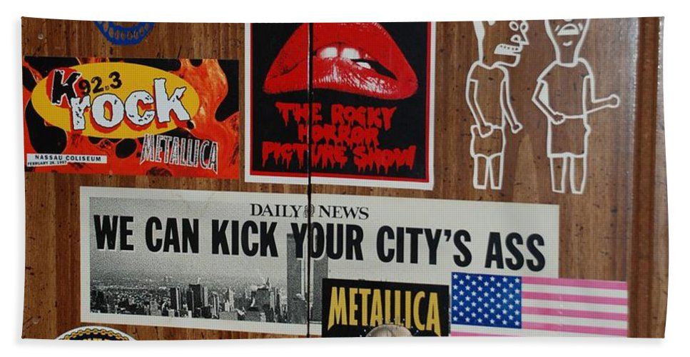 Metallica Hand Towel featuring the photograph Dartboard Box by Rob Hans
