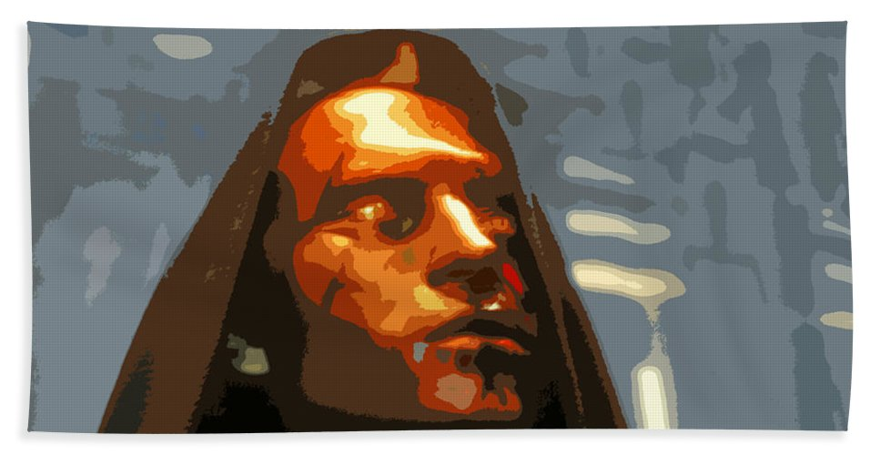 Darth Maul Bath Sheet featuring the painting Darth Maul by David Lee Thompson
