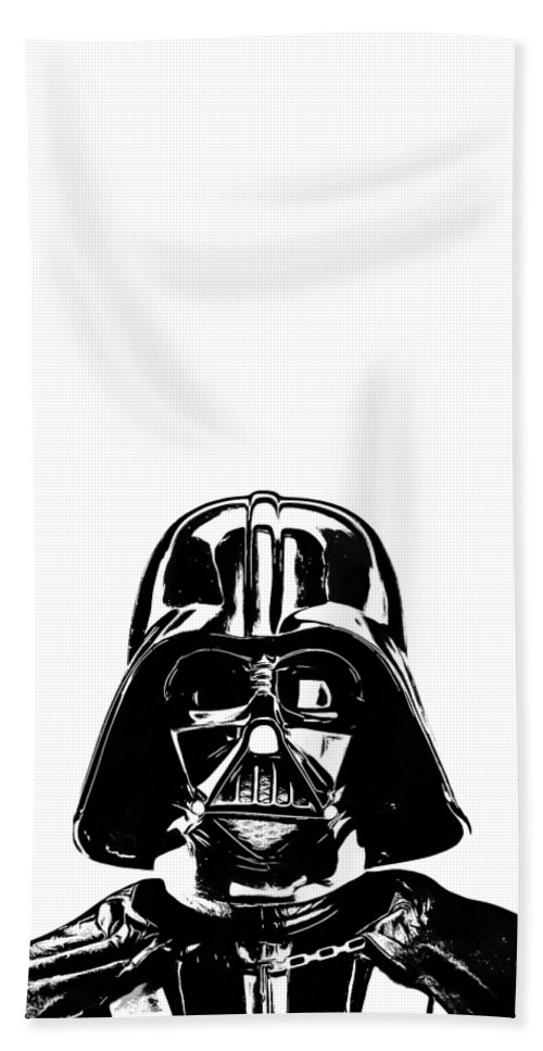 Star Hand Towel featuring the photograph Darth Vader Painting by Edward Fielding