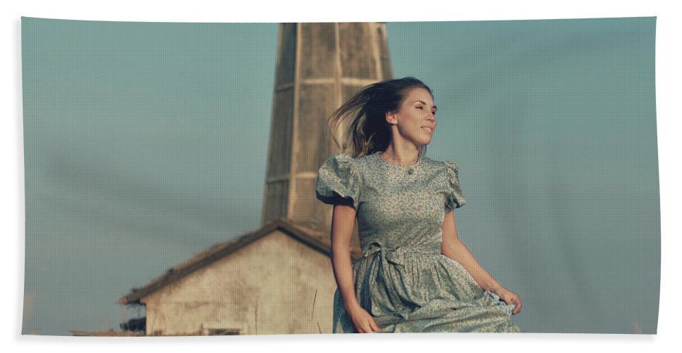 Fine-art Bath Sheet featuring the photograph Daughter Of The Lighthouse Keeper by Denis Kovalenko