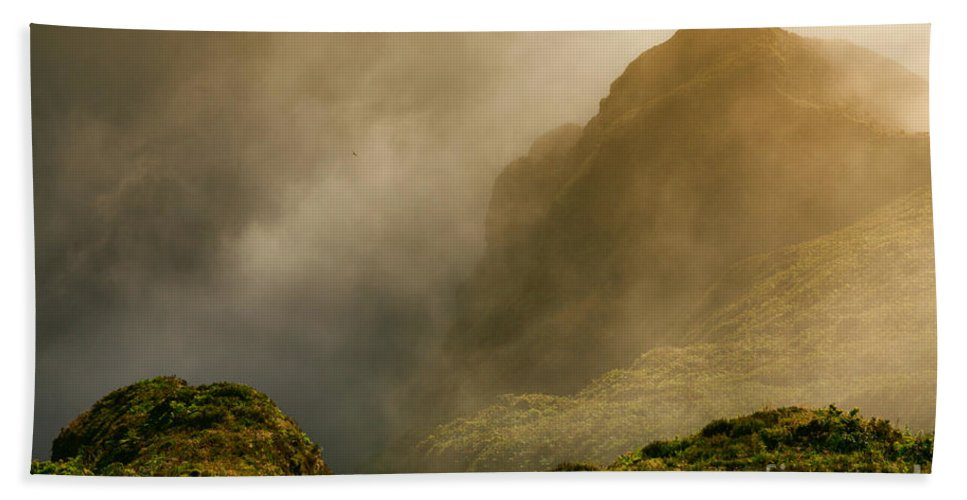 Azores Bath Towel featuring the photograph Dawn At Fogo Crater by Gaspar Avila