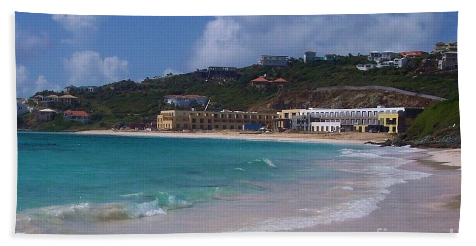 Dawn Beach Hand Towel featuring the photograph Dawn Beach by Debbi Granruth