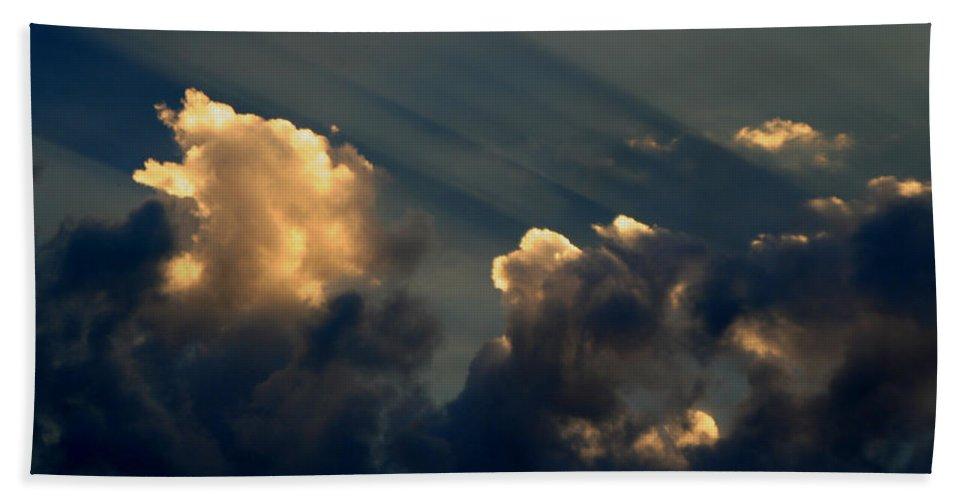 Cloud Bath Sheet featuring the photograph Dawn Bursting In Air by Joe Kozlowski