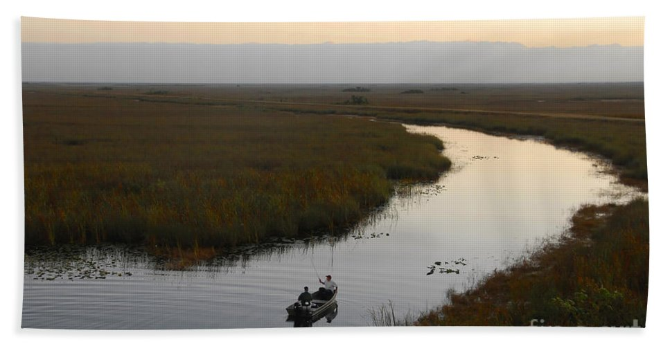 Fishing Bath Towel featuring the photograph Dawn Everglades Florida by David Lee Thompson