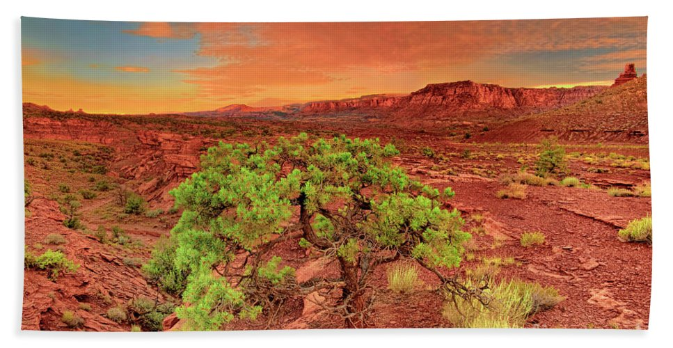 North America Hand Towel featuring the photograph Dawn Light Capitol Reef National Park Utah by Dave Welling