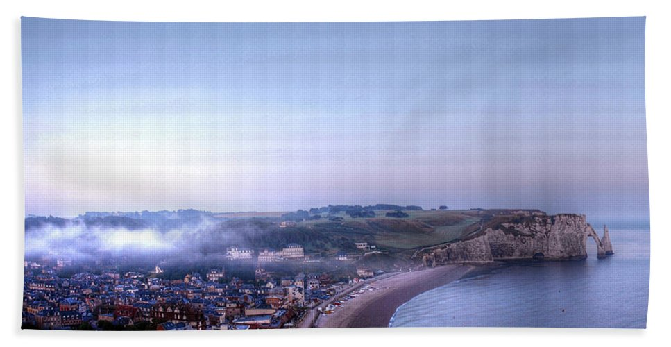 Church Bath Sheet featuring the photograph Dawn Of Etretat by Jane Svensson