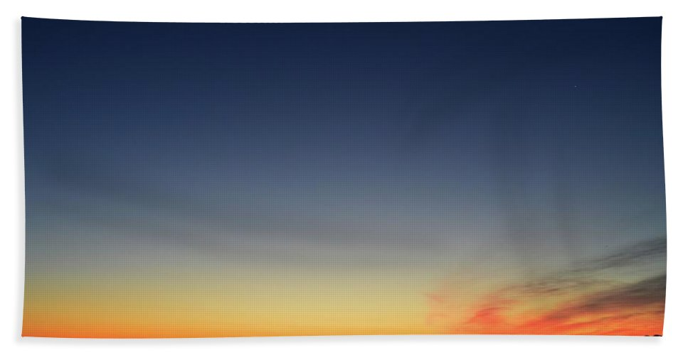Abstract Bath Sheet featuring the photograph Dawn On July 29-2017 by Lyle Crump