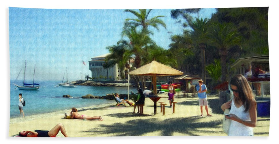 Beach Bath Towel featuring the digital art Day At The Beach by Snake Jagger