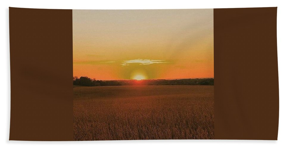 Sunset Bath Sheet featuring the photograph Day Is Done by Paul Kercher