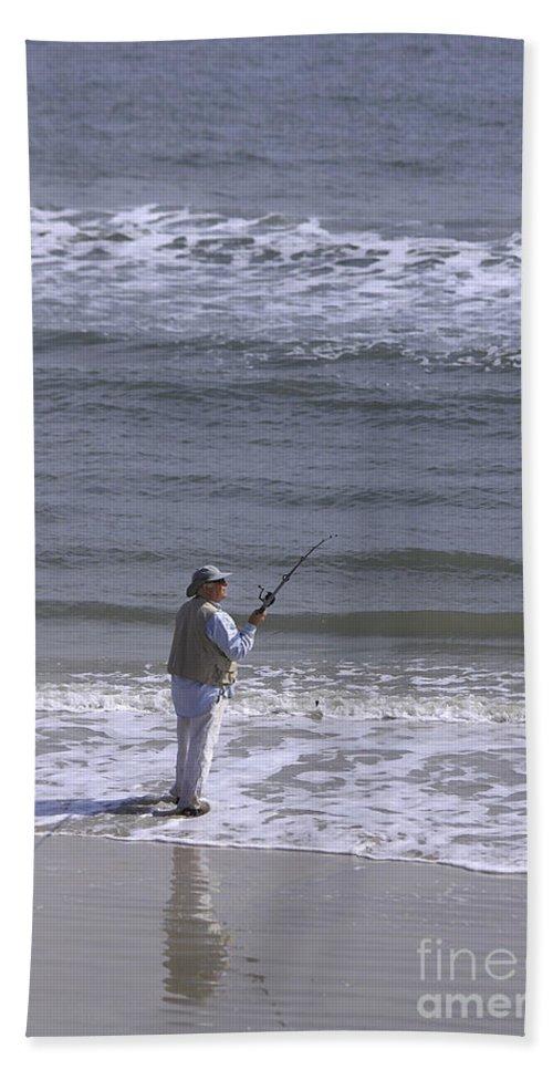 Ocean Bath Sheet featuring the photograph Day Of Ocean Fishing by Deborah Benoit
