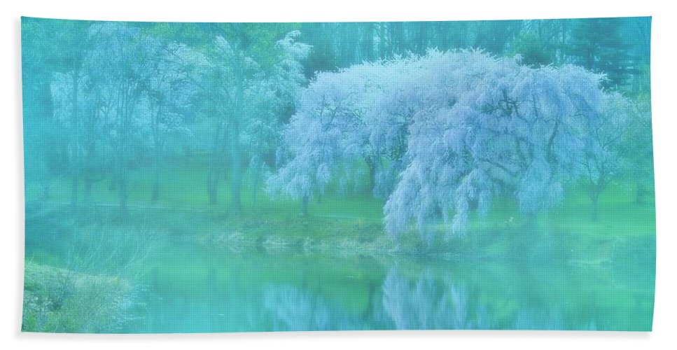 Cherry Blossom Trees Hand Towel featuring the photograph Daydream - Holmdel Park by Angie Tirado