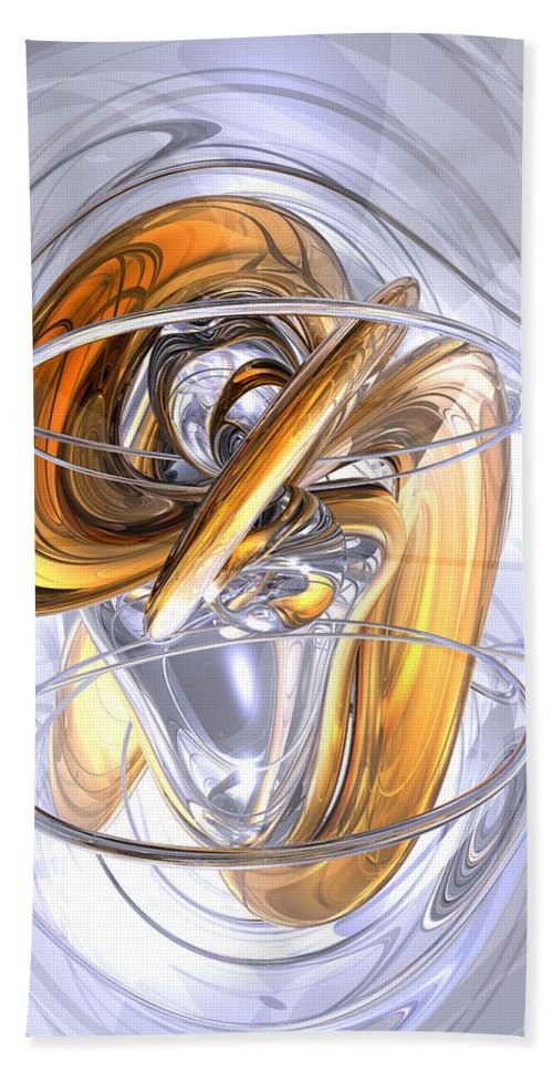 3d Hand Towel featuring the digital art Daydreamers Abstract by Alexander Butler