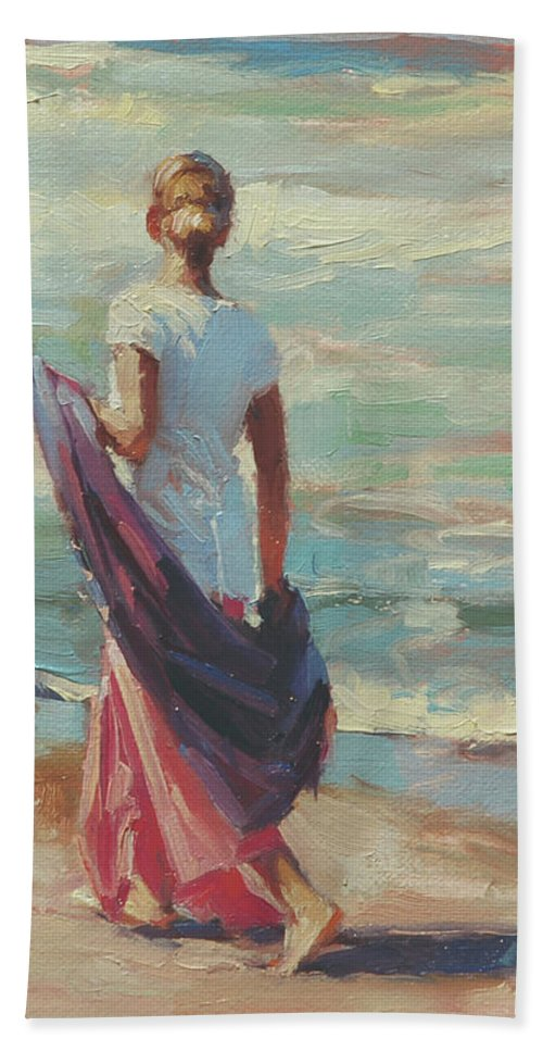 Coast Bath Towel featuring the painting Daydreaming by Steve Henderson