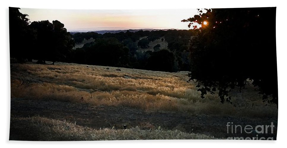 California Scenes Hand Towel featuring the photograph Day's End In Ten by Norman Andrus