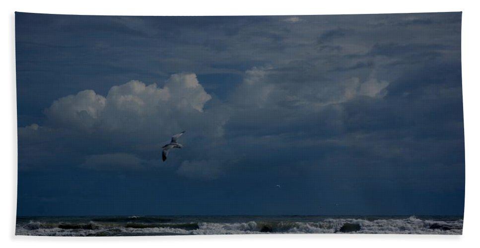 Daytona Beach Bath Sheet featuring the digital art Daytona Beach Kind Of Day by David Lane