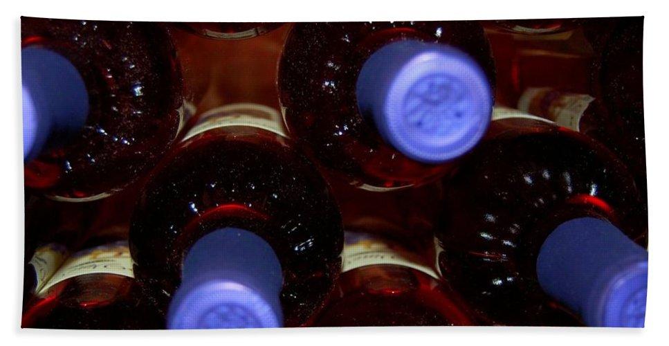 Wine Bath Towel featuring the photograph De-vine Wine by Debbi Granruth