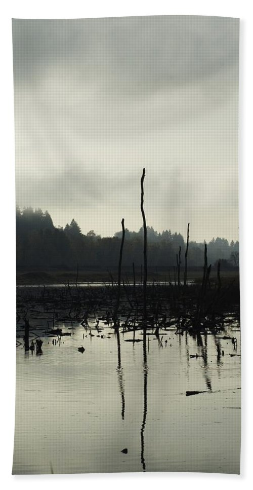 Dead Tree Hand Towel featuring the photograph Dead Tree Waters by Sara Stevenson