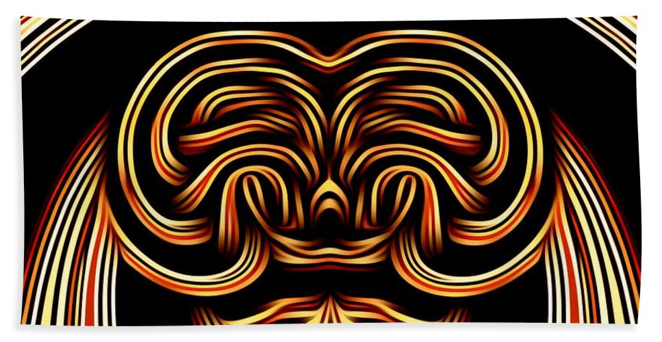 Abstract Hand Towel featuring the digital art Dear How Do I Look In This Outfit by Debra Lynch