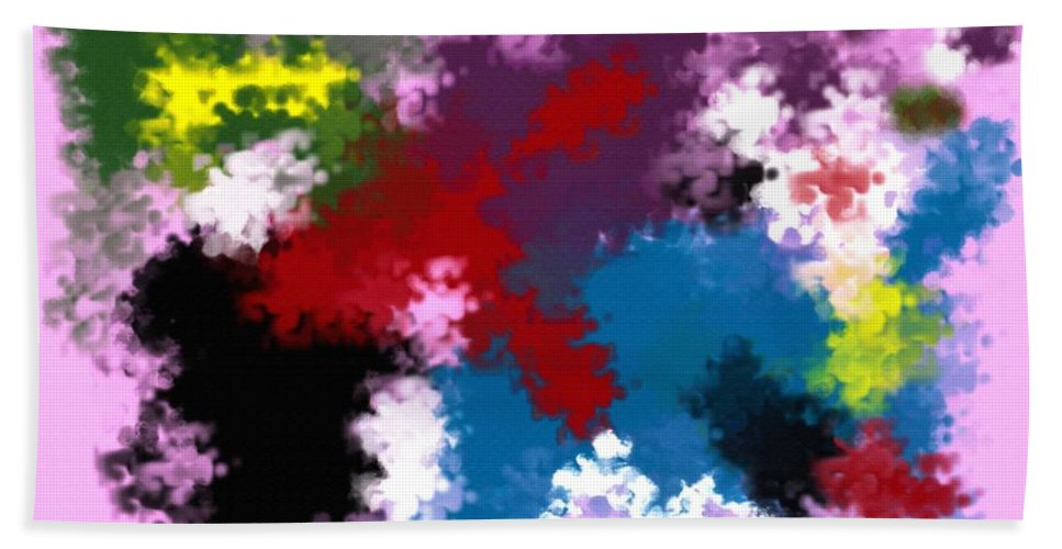 Abstract Bath Sheet featuring the digital art Death Of Discrimination by Donna Blackhall