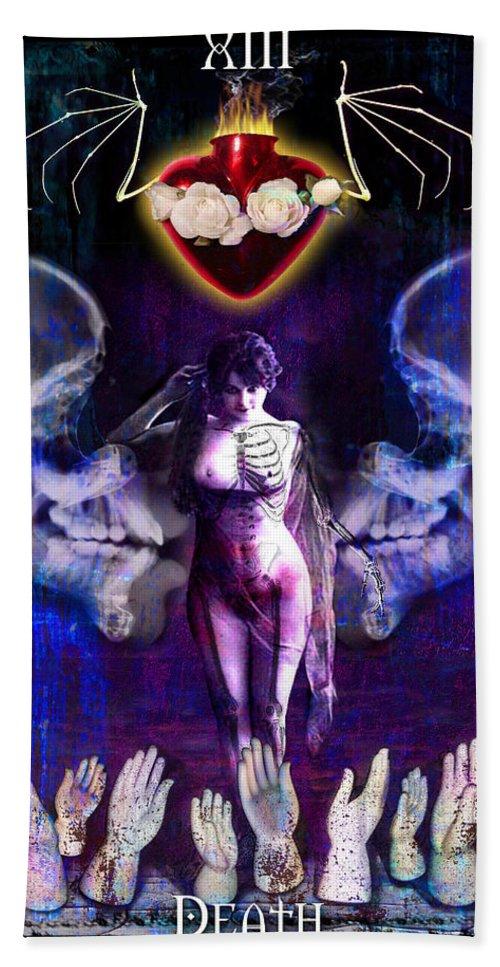 Divine Hand Towel featuring the digital art Death by Tammy Wetzel