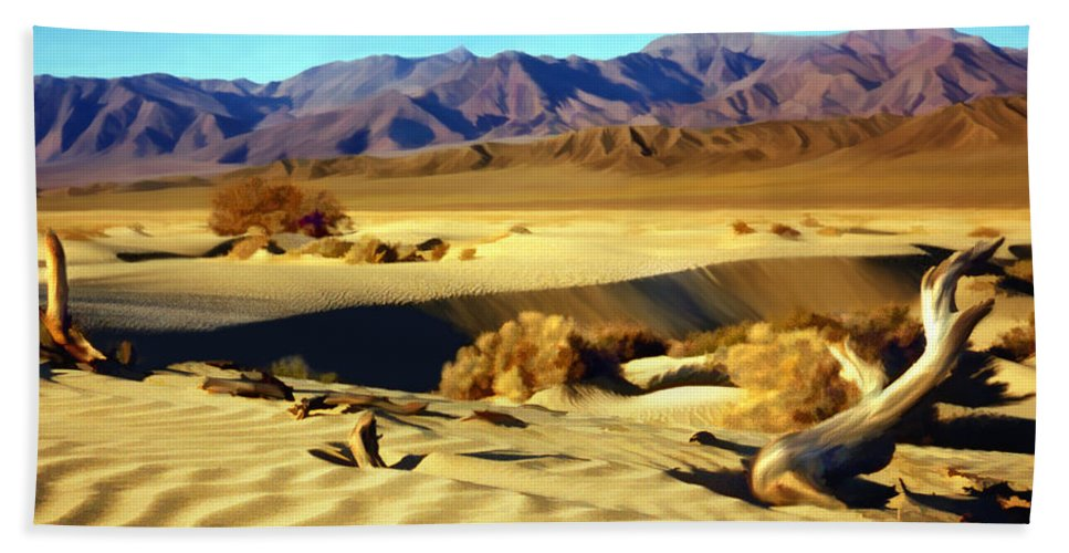 Death Valley Bath Towel featuring the photograph Death Valley by Kurt Van Wagner