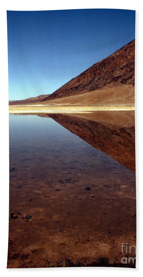 Desert Bath Sheet featuring the photograph Death Valley Lake by Norman Andrus