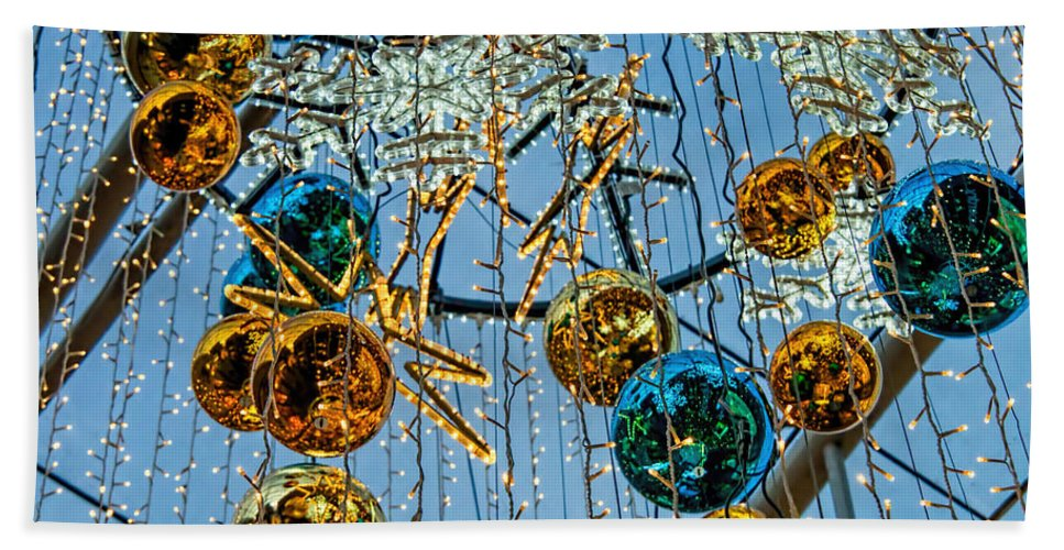 Decorations Bath Sheet featuring the photograph Deck The Halls 1 by Susie Peek