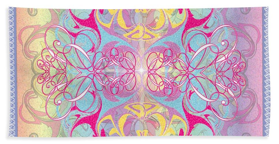 Color Bath Towel featuring the digital art Decorative 11 by George Pasini