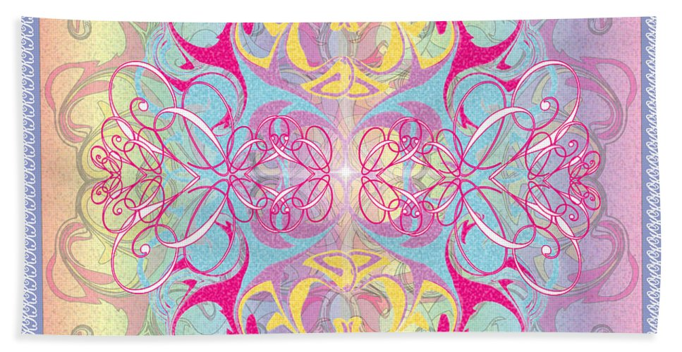 Color Bath Sheet featuring the digital art Decorative 11 by George Pasini