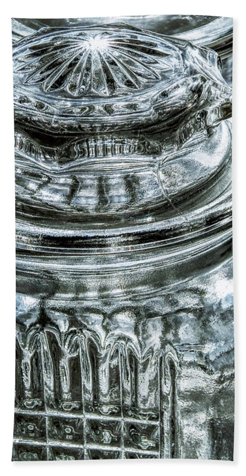 Glass Hand Towel featuring the digital art Decorative Glass Jars by Phil Perkins