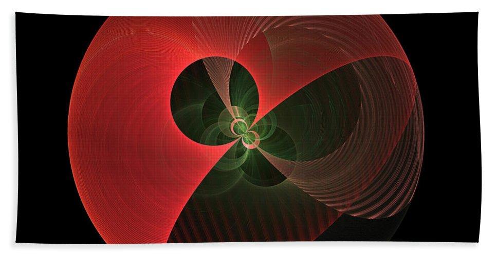 Globe Hand Towel featuring the digital art Decorative Globe Of Red by Deborah Benoit