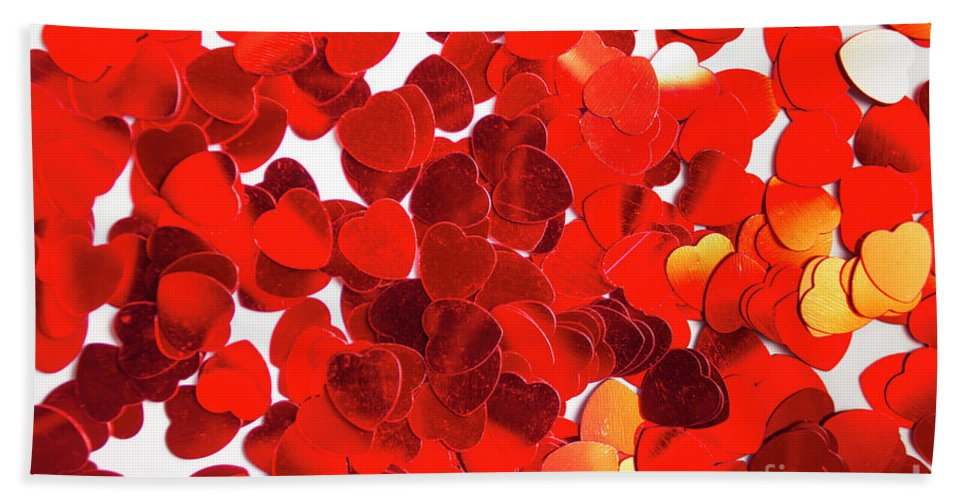 Confetti Bath Towel featuring the photograph Decorative Heart Background by Jorgo Photography - Wall Art Gallery