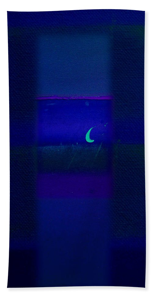 Rothko Hand Towel featuring the painting Deep Blue Sea by Charles Stuart