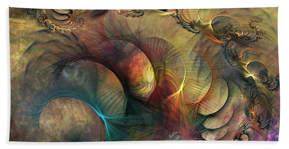Deep Cover Hand Towel featuring the digital art Deep Cover by John Beck