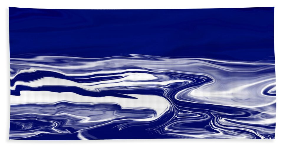 Blue Hand Towel featuring the digital art Deep In Blue by Lyriel Lyra