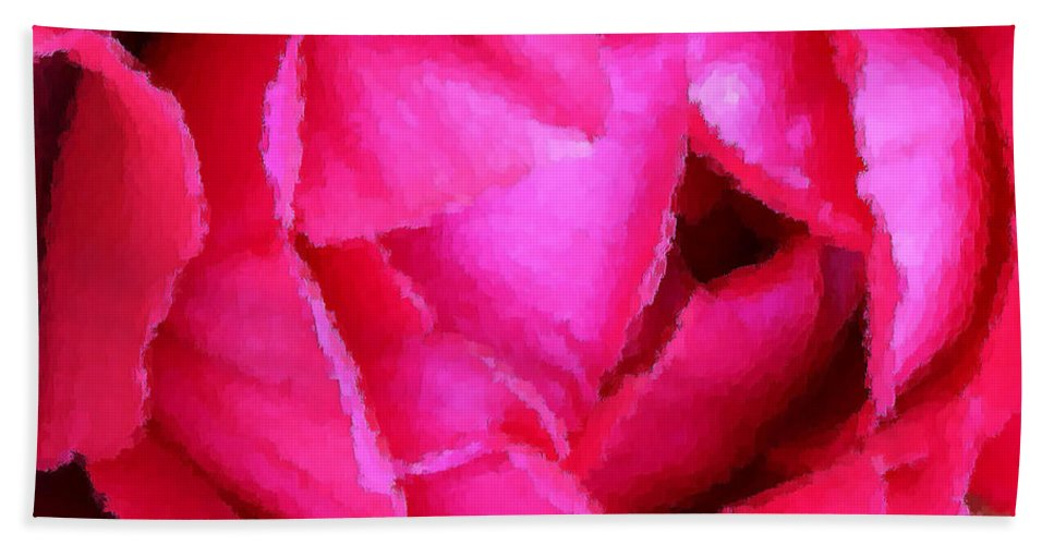Rose Hand Towel featuring the photograph Deep Inside The Rose by Kristin Elmquist