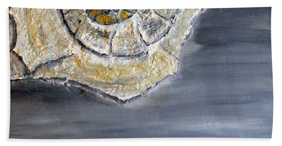 Still Life Paintings Hand Towel featuring the painting Deep Ocean Seashell by Leslye Miller